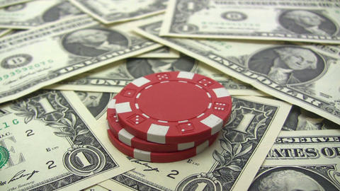 Stacking Red Poker Chips Stock Video Footage