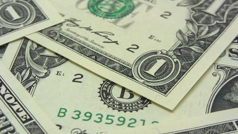 Royal Flush on Dollars Stock Video Footage
