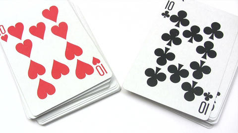 Shuffling Playing Cards Stock Video Footage