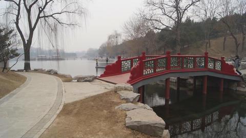 China Beijing Park Yuanmingyuan 17 Footage