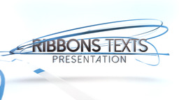 Ribbons Texts Presentation - Apple Motion Template