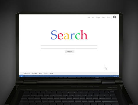 notebook search screen 4 K Animation