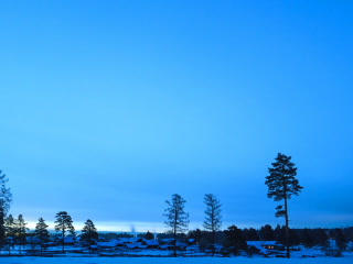 Dawn in the village. Time Lapse. 320x240 Stock Video Footage