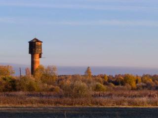 Dawn over the autumn landscape. Time Lapse. 320x24 Footage