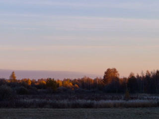 Dawn over the autumn landscape. Time Lapse. 320x24 Stock Video Footage