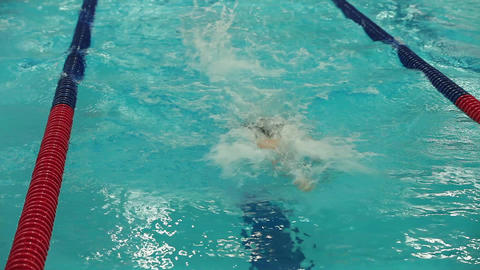 Sports Swimming By A Freestyle stock footage
