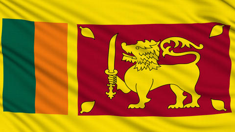 Sri Lanka Flag, with real structure of a fabric Animation