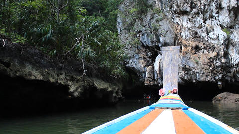 Longtail boat Stock Video Footage