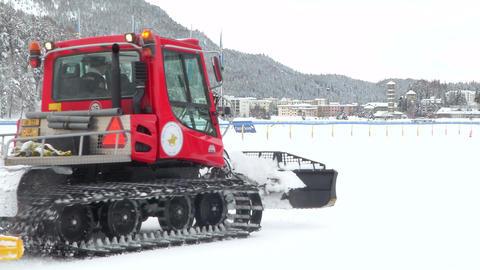 snowcat 02 Stock Video Footage