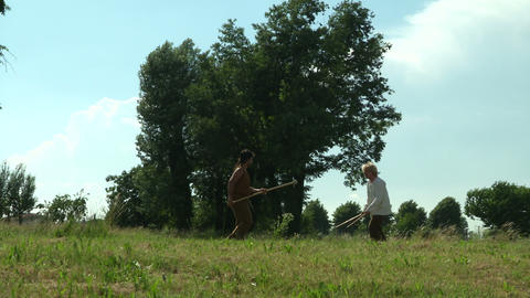 celt camp training 15 Stock Video Footage