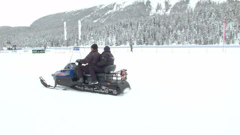 snowmobile 02 Stock Video Footage