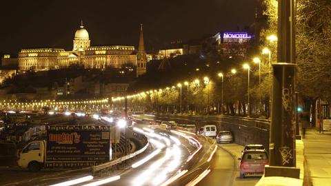 4 K Budapest by Night Timelapse 40 Footage