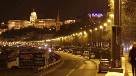 4 K Budapest by Night Timelapse 40 Stock Video Footage