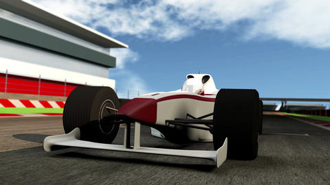 4K Formula 1 Car on Race Track v1 1 Animation