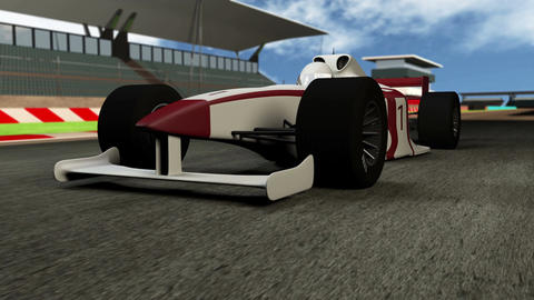 4K Formula 1 Car on Race Track v1 1 Stock Video Footage