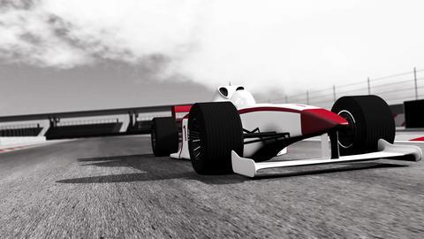 4K Formula 1 Car on Race Track v1 3 Stock Video Footage