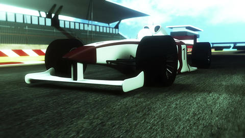 4K Formula 1 Car on Race Track v1 5 Stock Video Footage