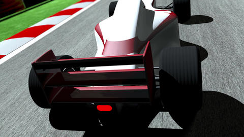 4K Formula 1 Car on Race Track v3 1 Stock Video Footage