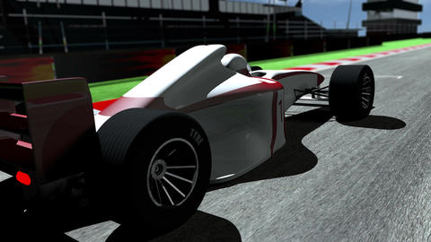 4K Formula 1 Car on Race Track v3 1 Animation