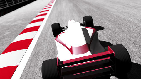 4K Formula 1 Car on Race Track v3 3 Stock Video Footage