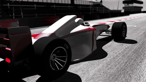 4K Formula 1 Car on Race Track v3 3 Animation