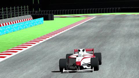 4K Formula 1 Car on Race Track v4 1 Stock Video Footage