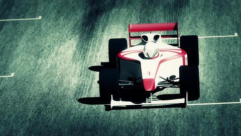 4K Formula 1 Car on Race Track v4 5 Stock Video Footage