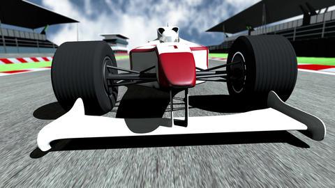 4K Formula 1 Car on Race Track v5 1 Stock Video Footage