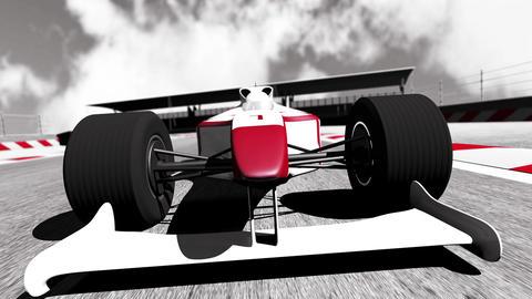 4K Formula 1 Car on Race Track v5 3 Stock Video Footage