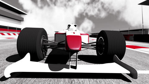 4K Formula 1 Car on Race Track v5 3 Animation