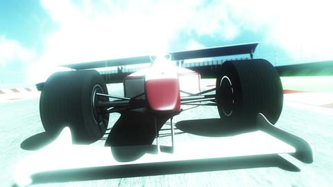4K Formula 1 Car on Race Track v5 5 Stock Video Footage