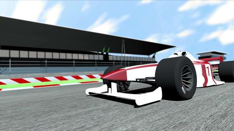 4K Formula 1 Car on Race Track v6 1 Stock Video Footage