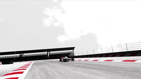 4K Formula 1 Car on Race Track v6 3 Stock Video Footage