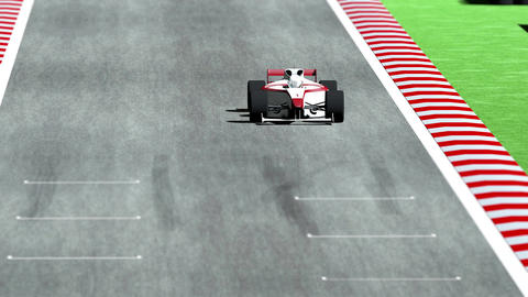 4K Formula 1 Car on Race Track v7 1 Animation
