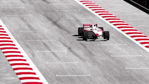 4K Formula 1 Car on Race Track v7 3 Stock Video Footage