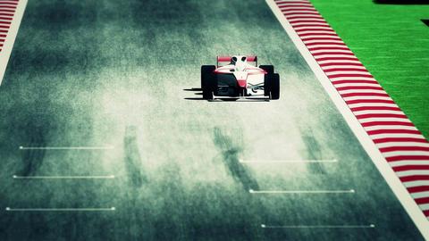 4K Formula 1 Car on Race Track v7 5 Stock Video Footage