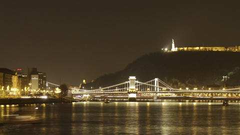 Budapest by Night Timelapse 92 Footage