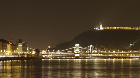 Budapest by Night Timelapse 92 Stock Video Footage