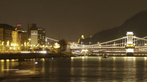 Budapest by Night Timelapse 94 Footage