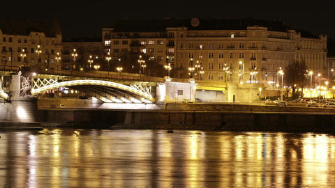 Budapest by Night Timelapse 100 Stock Video Footage