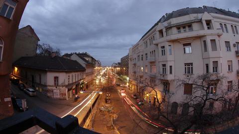 Budapest Evening Timelapse 81 Stock Video Footage