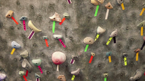 Rock Climbing Wall Stock Video Footage
