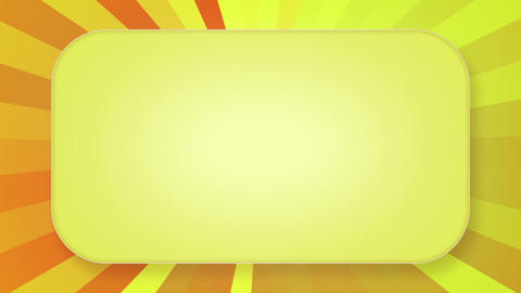 title plate yellow orange rays loopable background Animation