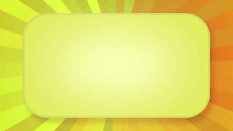 title plate yellow orange rays loopable background Stock Video Footage
