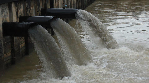 Water pollution Stock Video Footage