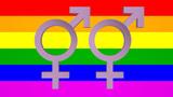 Rainbow Flag with Venus & Mars Animation
