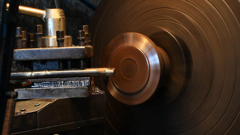 Lathe Turning Steel stock footage