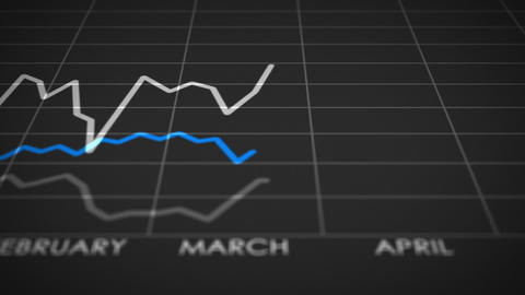 Stock Market Graph Ups and Downs (24fps) Animation