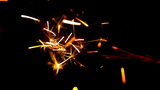 Sparks Fly In The Course Of Metal Working stock footage