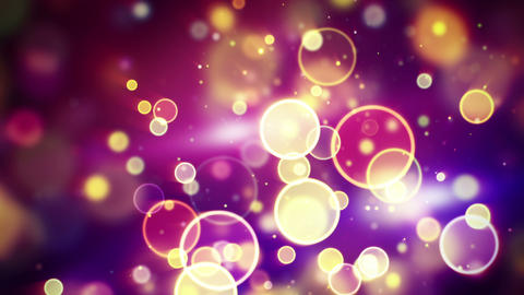 circles bokeh lights loopable background Animation